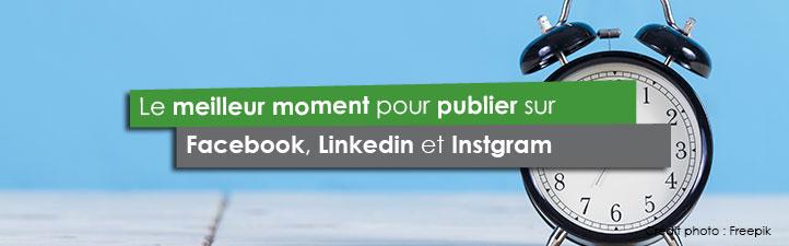 Le meilleur moment pour publier sur Facebook, Linkedin et Instgram | Studio Grafik