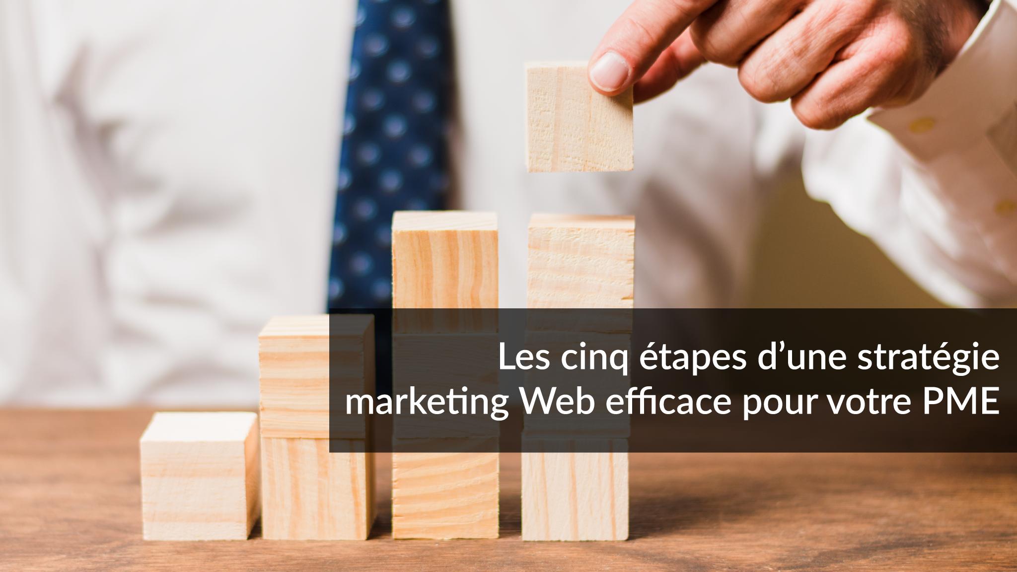 Les cinq étapes d'une stratégie marketing Web efficace pour votre PME