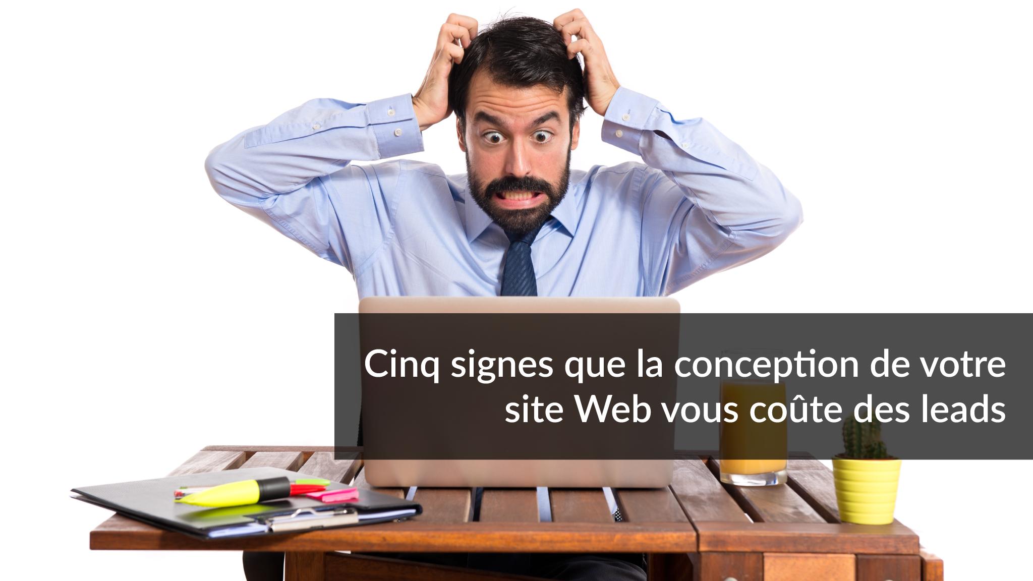 Cinq signes que la conception de votre site Web vous coûte des leads B2B | Studio Grafik