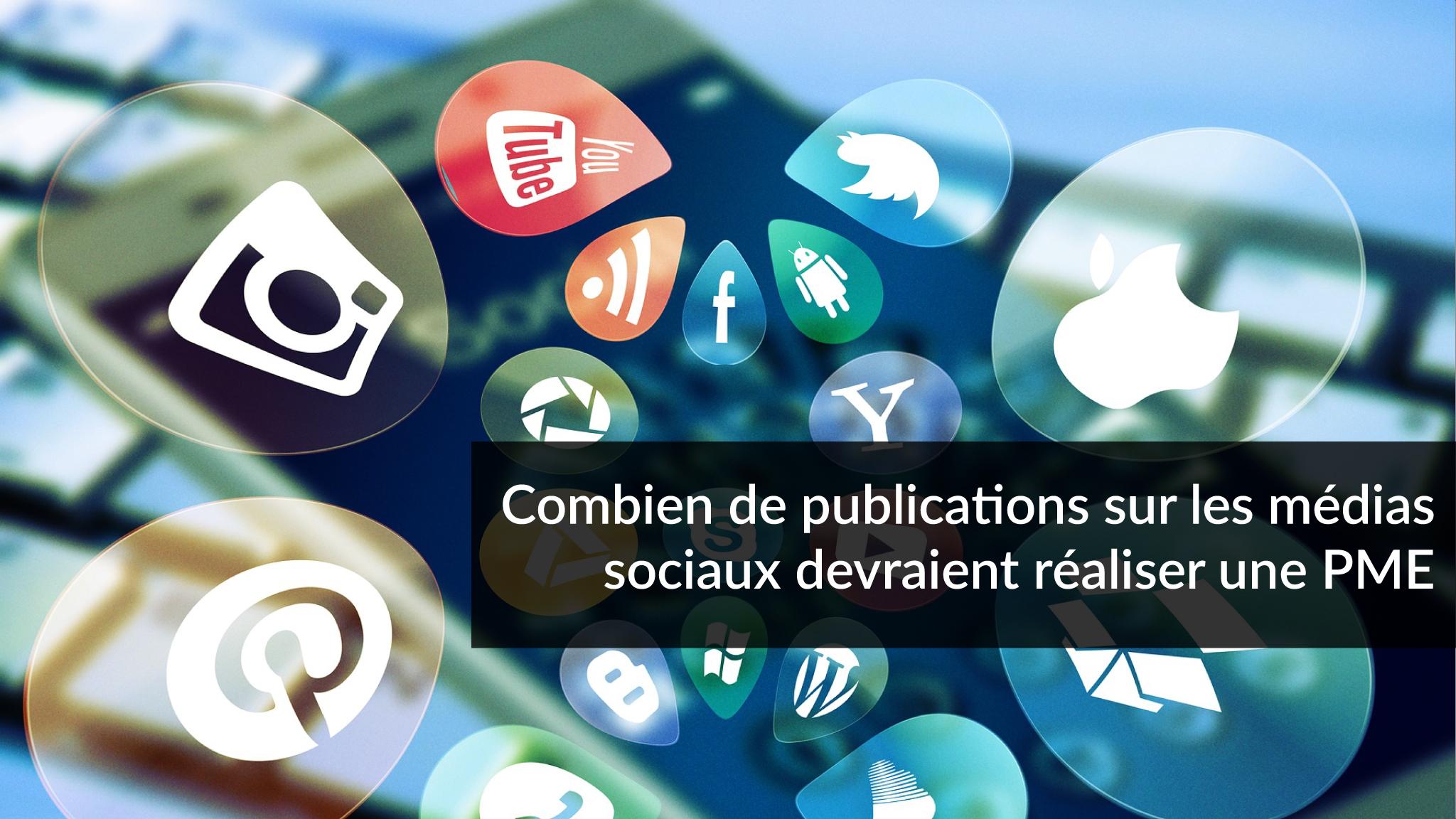 Combien de publications sur les médias sociaux devraient réaliser une PME | Studio Grafik