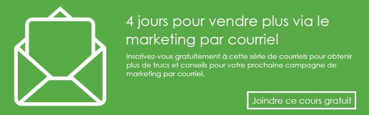 4 jours pour vendre plus via le marketing par courriel - Studio Grafik
