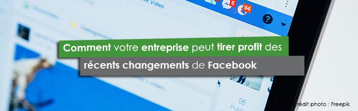 Comment votre entreprise peut tirer profit des récents changements de Facebook | Studio Grafik