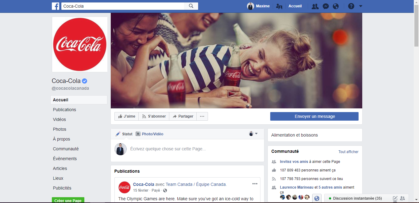 Facebook Coca-Cola | Studio Grafik