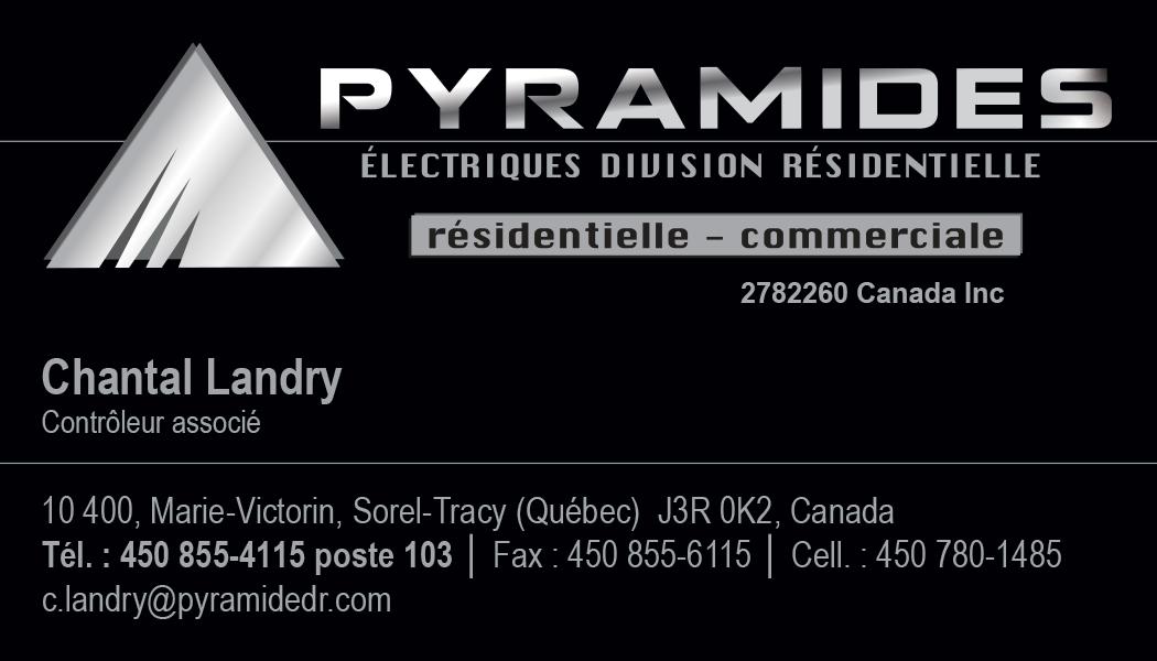 Cartes d'affaires Pyramides Électriques