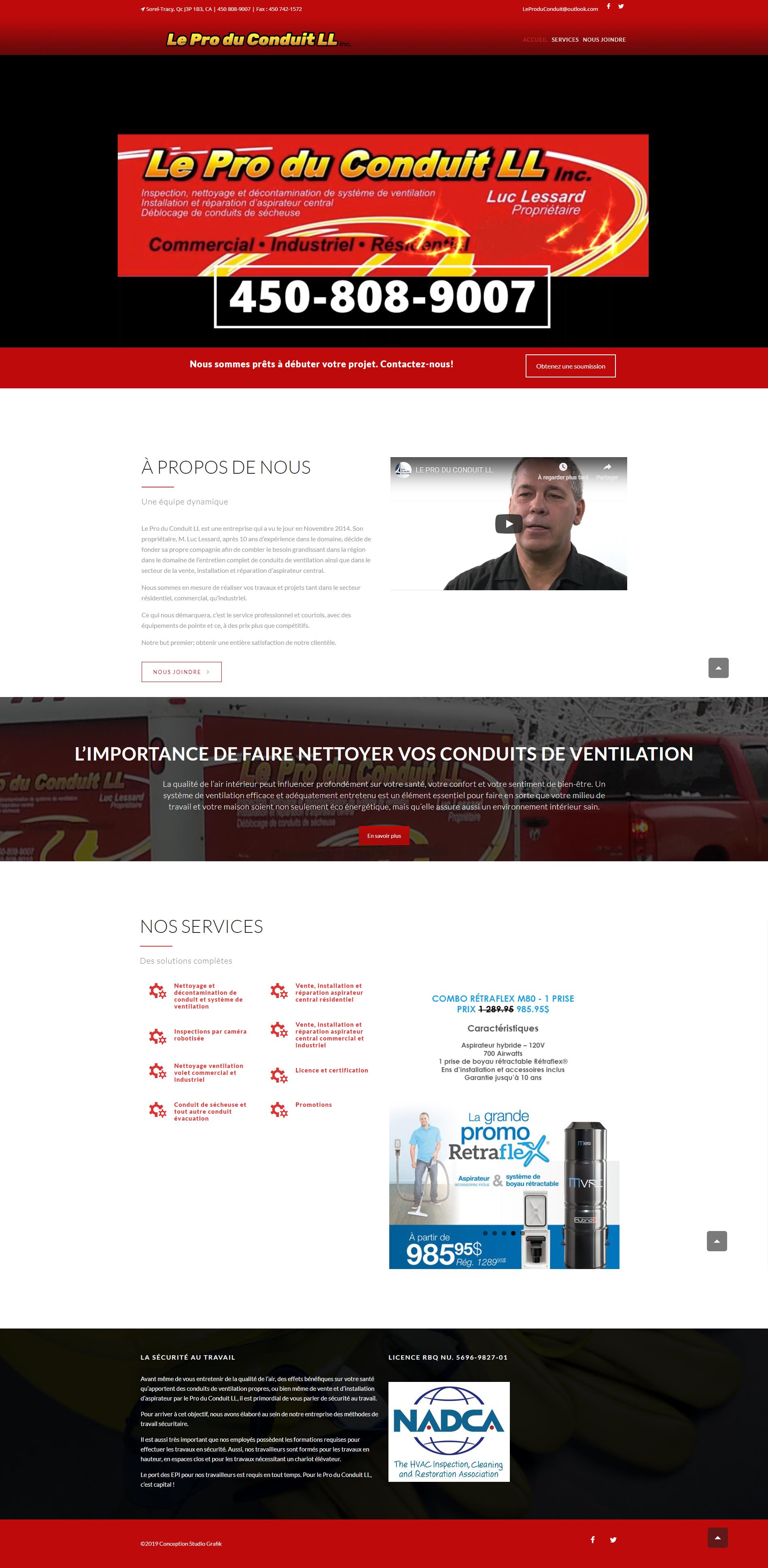 Site Web Le Pro du Conduit LL