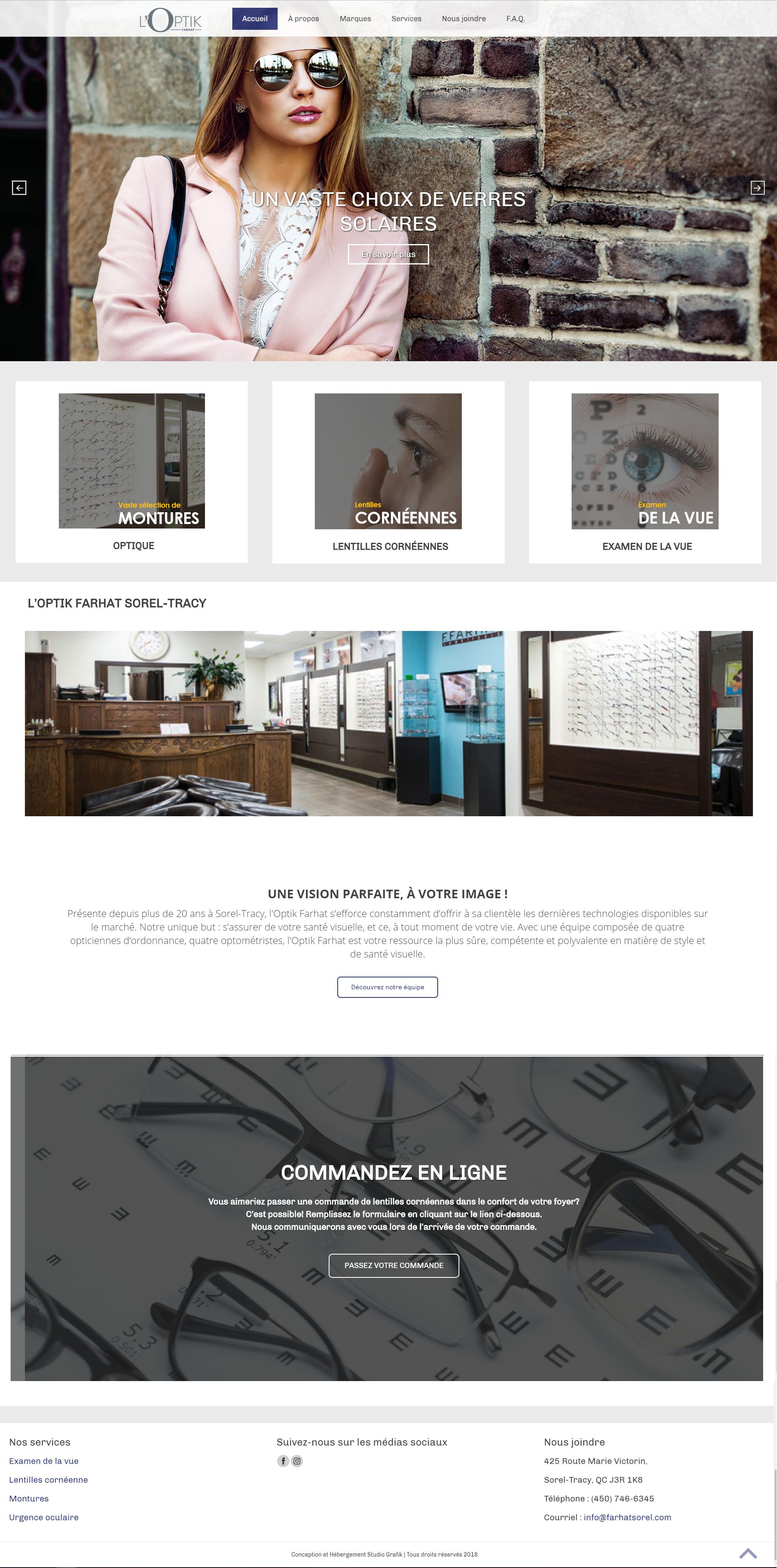Site Web l'Optik Farhat