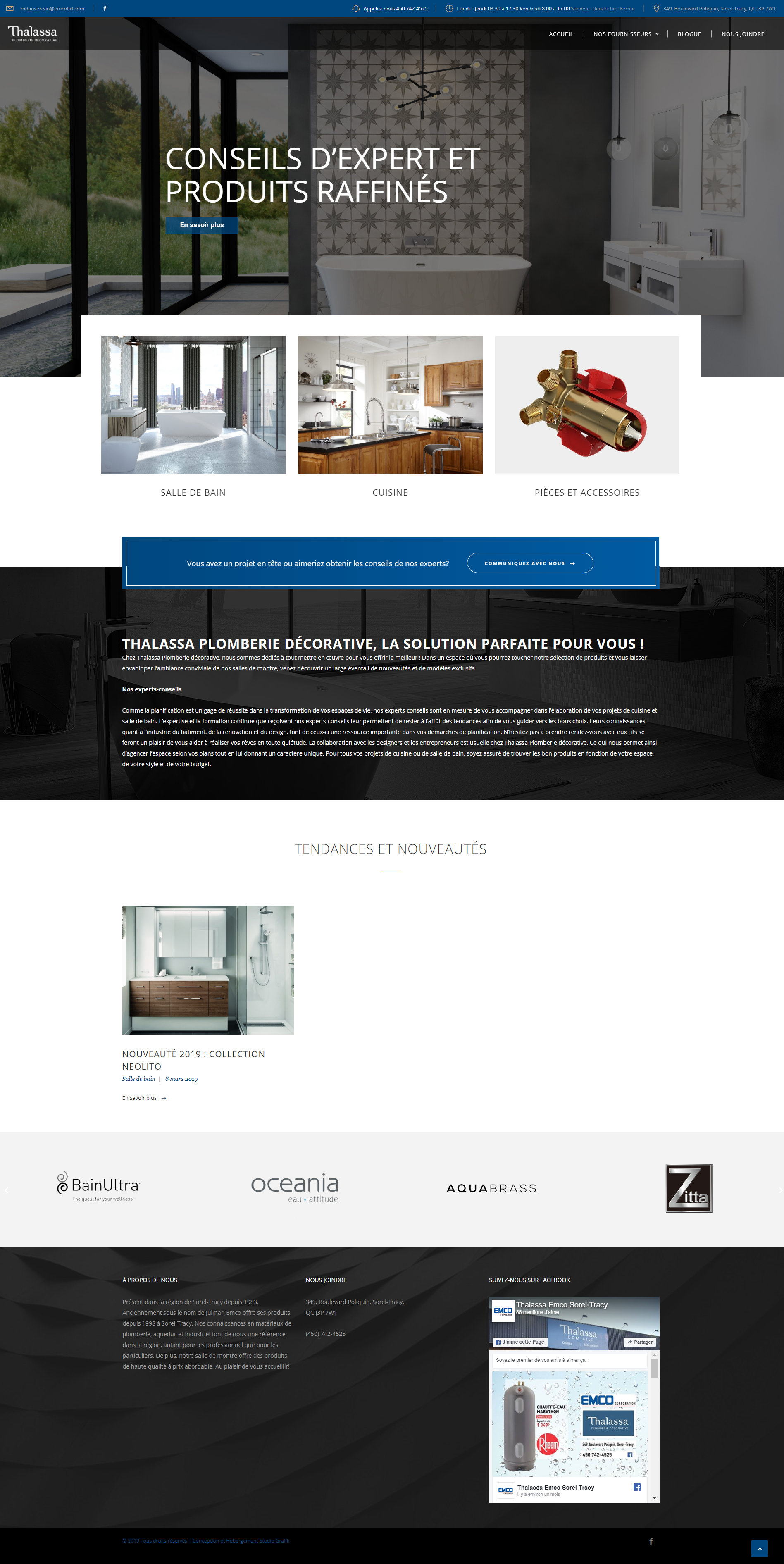 Site Web Thalassa Sorel-Tracy